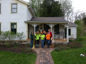 BFHS - volunteer work day at mill house 2