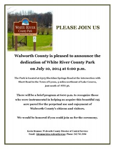 INVITATION TO WHITE RIVER PARK DEDICATION